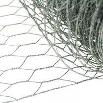 Hexagonal braid wire, silver galvanized, rabbit wire 50cm × 10m