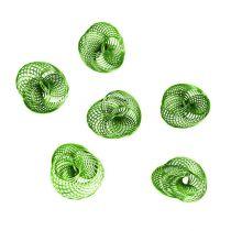 Wire wheels apple green Ø4.5cm 6pcs