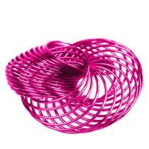 Wire wheels pink Ø4.5cm 6pcs