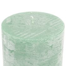 Solid colored candles light green 50x100mm 4pcs
