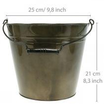 Metal bucket, plant pot, metal vessel Ø25cm H21cm
