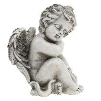 Memorial figure sleeping angel gray 16cm 2pcs