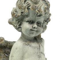 Decorative angel Cupid with heart 25cm 2pcs