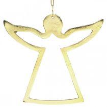 Metal pendants, decorative angels, golden advent decoration 15 × 16.5cm