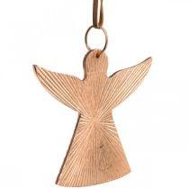 Angels to hang, Advent decorations, metal decorations copper-colored 9 × 10cm 3pcs
