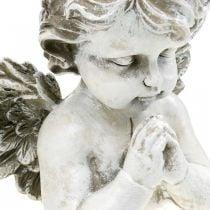 Praying angel, funeral floristry, bust of angel figure, grave decoration H19cm W19.5cm