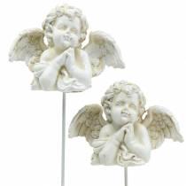 Grave jewelry decorative plug angel praying 5cm 4pcs