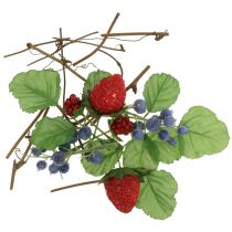 Craft set berries, decorative branches and leaves