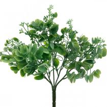 Wedding decoration Artificial eucalyptus branches with flowers Decorative bouquet green, white 26cm