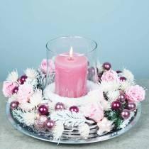 Eternal roses medium Ø4-4.5cm pink 8pcs