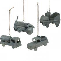 Vehicles metal to hang Assorted 9-10cm 4pcs