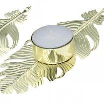 Candlestick on spring, metal decoration, candle holder, Advent decoration golden Ø2.2cm L13cm 4pcs