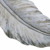 Grave decoration feather 18cm x 6.5cm 4pcs