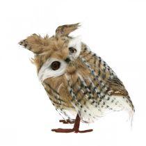 Forest owl, autumn decoration, decorative owl, Halloween H16cm