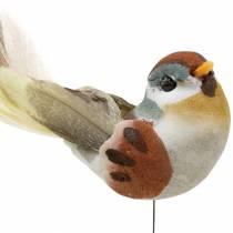 Bird on wire 5.5cm colored 9pcs