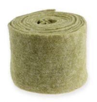 Felt ribbon 15cm x 5m moss green