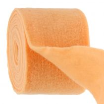 Felt ribbon light orange 15cm 5m