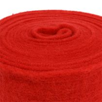 Felt ribbon 15cm x 5m red