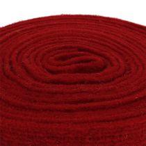 Felt ribbon dark red 7.5cm 5m