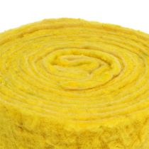 "Felt ribbon ""Happy"" yellow 7.5cm 5m"