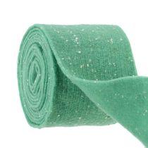 Felt ribbon mint with dots 15cm 5m