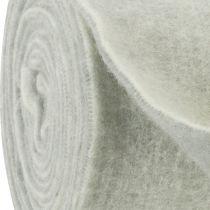 Felt tape 15cm x 5m two-tone gray, white