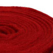 Felt ribbon 15cm x 5m dark red