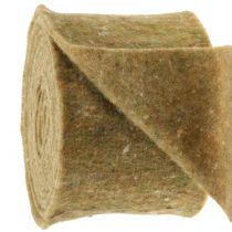 Pot hinge felt band green with dots 15cm x 5m