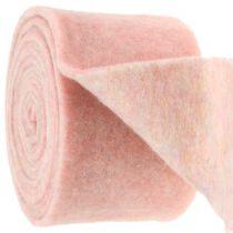 Felt tape, pot tape two-tone white / pink 15cm 5m