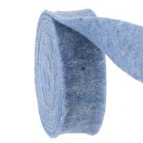 Felt ribbon blue 7.5cm 5m