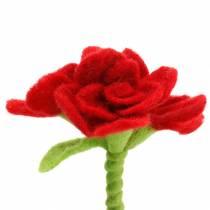 Felt flower 15cm with 3 flowers