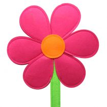 Felt flower pink 87cm