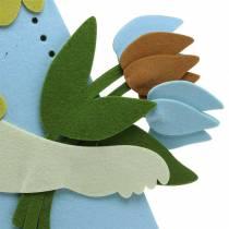 Big Easter bunny felt cream, light blue, 44cm H101cm shop window decoration