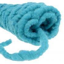 Felt cord fleece Mirabell 25m turquoise