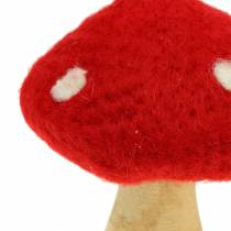 Fly agaric autumn decoration red H13.5cm 2pcs