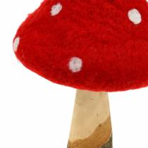 Fly agaric autumn decoration red H27cm