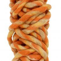 Felt cord 25m orange, yellow, brown