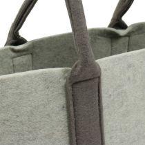 Felt bag gray / brown 54cm x 34cm x 15cm