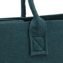 Felt bag blue-gray 40cm x 20cm x 25cm