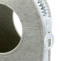 Felt bag gray H58cm