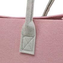Felt bag pink 50cm x 25cm x 25cm