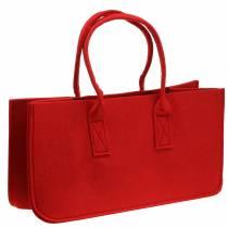 Felt bag red 50 × 25 × 25cm