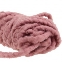 Fleece Mirabell felt cord old pink 25m