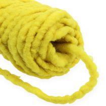 Felt cord fleece Mirabell 25m yellow