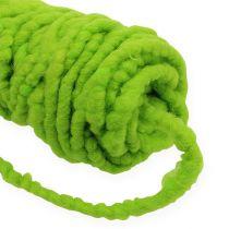 Felt cord fleece Mirabell 25m green