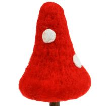 Fly agaric sticks made of felt red 30cm 4pcs