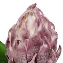 Foam artichoke light purple 14cm L28cm 1p