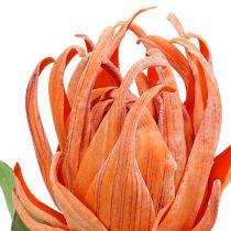Foam blossom orange 12cm L30cm 1p
