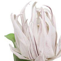 Foam flower white, purple 12cm L30cm 1p