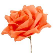 Foam roses orange Ø15cm 4pcs